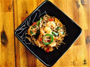 Buckwheat Angel Hair with Sweet and Spicy Shrimp and Peppers 3
