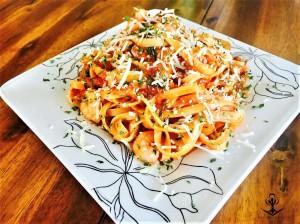 Shrimp Fettuccine with Marinara 5
