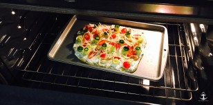 3 Cheese and Vegetable Whimsical Pizza 2