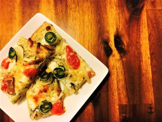 3 Cheese and Vegetable Whimsical Pizza 4