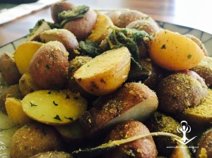 New Potatoes with Sage Butter 2