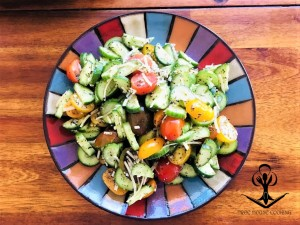 Dressed Cucumber and Tomato Medley Salad 1