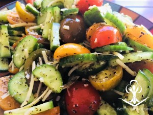 Dressed Cucumber and Tomato Medley Salad 2