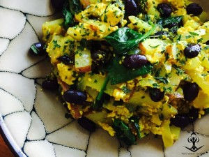 Tofu Scramble with Sauteed Vegetables