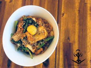 Kimchi Fried Rice with Sauteed Greens 2